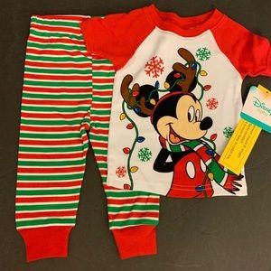 NWT 12m  Mickey Mouse Christmas Pajamas